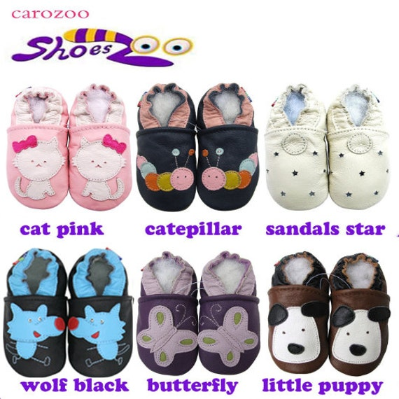 Carozoo 18 Designs Soft Sole Leather Shoes Baby Socks Slippers Indoor Prewalkers up to 4 Yrs