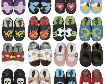 Clearance: Carozoo Toddler Leather Soft Sole Shoes. Baby Slippers Girls and Boys. Baby Leather Shoes. Toddler Shoes for Boys & Girls.