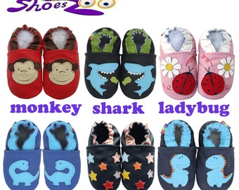 BEST SELLERS! Carozoo Baby Soft Sole Baby Kid Indoor Leather Shoes slippers socks booty girl boy cuir leder