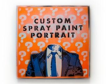 "Custom Spray Paint Stencil Portrait (12"" x 12"")"