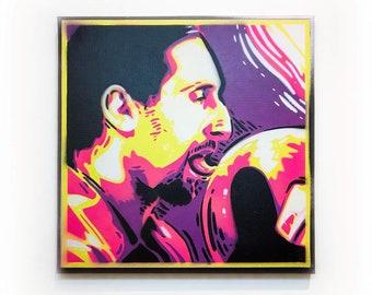 The Jesus Spray Paint Wall Art   Original Big Lebowski Stencil Painting on Canvas   Jesus Quintana   John Turturro