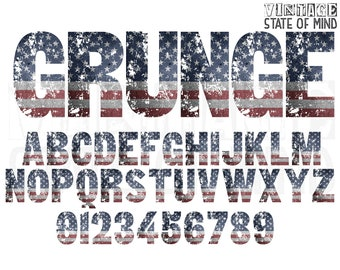 e73f8032a7c American Flag Sublimation Alphabet