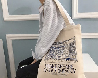 ethical tote canvas tote bag Shakespeare tote bag Shakespeare gift reusable bag beach swimming gym shopping bag book lover gift