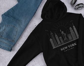 fe39e223 New York hoodie | New York shirt | NYC Hoodies | New York City Sweatshirt |  New York Lifestyle | New York Skyline | New York City Drawing
