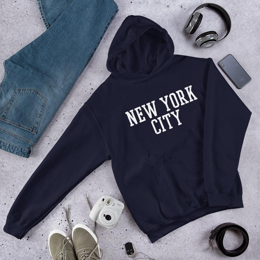 New York City Druck NYC Freiheitsstatue Skyline Pullover Hoodie