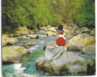 View from PONT ABERGLASLYN, WALES - Used Vintage Welsh Postcard Posted on 10th May 1973 - Published by Photo Precision