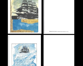 Two Unused SHIP ART CARDS Designed by Printed Matter (London) Ltd. 1990