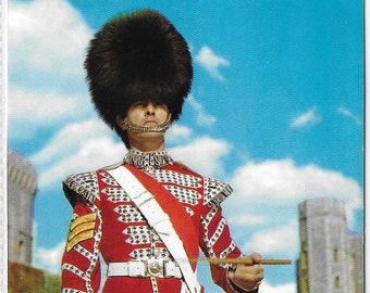 SERGEANT DRUMMER, Coldstream Guards, Windsor Castle in 1969 - Vintage Postcard Written and Posted on 9 Oct 1969