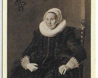 Cornelia Vooght-Claesdochter  by Frans Hals - Unused Dutch Vintage Postcard