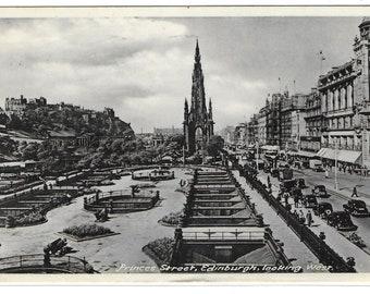 PRINCES STREET, EDINBURGH, Scotland - Used Vintage Postcard Posted on 2nd November 1959