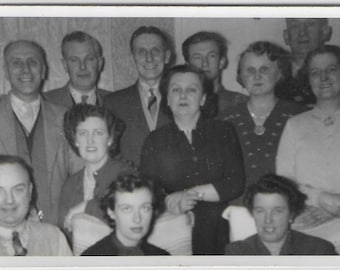 """Group Photo Perhaps of Colleagues - Vintage Photo - Black and White  Sized Approx 3"""" x 5"""""""