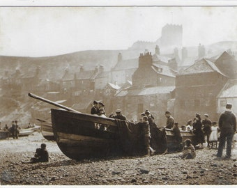 Under The Wing of ST MARY'S CHURCH, Whitby - Unused Vintage Postcard by The Sutliffe Gallery Whitby - Photo by Frank Meadow Sutcliffe