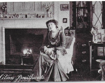Actress LIlian Braithwaite - Photo Portrait - Vintage Postcard - Photo by Yes No Series - Unused