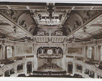 ROYAL HALL, HARROGATE, Yorkshire - Unused Vintage Postcard