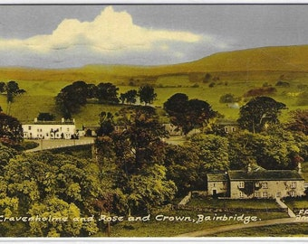 CRAVENHOLME and Rose & Crown, Bainbridge, Yorkshire - Used Vintage Postcard Published by Frith's - Posted on 13 July 1966