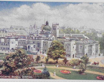 Harrogate, ROYAL BATHS - Tuck's Vintage Postcard