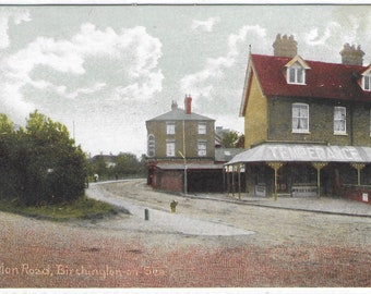 BIRCHINGTON-ON-SEA - Station Road, Kent - Unused Vintage Postcard Published by T Pointer Stationer