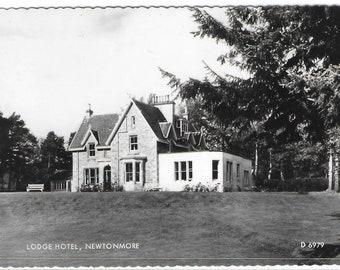 LODGE HOTEL, NEWTONMORE, Scotland - Used Valentine's Vintage Postcard