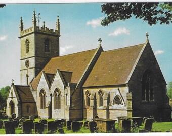 St Martin's Church in Bladon near Woodstock, Oxfordshire - Unused Vintage Postcard of The Parish Church, Bladon