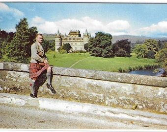 INVERARAY CASTLE from New Bridge, Scotland - Used Vintage Postcard Published by M and L National Series