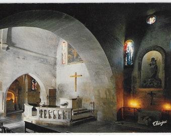 The Baux de Provence, France - Interior of The Church Chapelle des Pénitents Blancs - Unused French Vintage Postcard