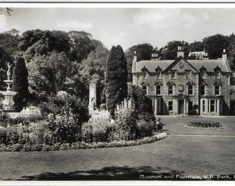 Museum and Fountain W.P. Park, Hawick, Scotland - Used Vintage Postcard Posted on 22nd September 1958