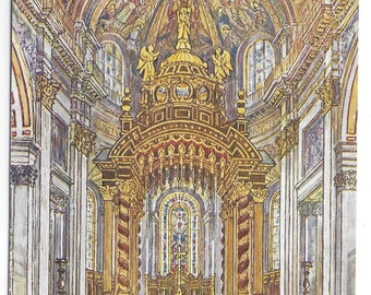 ST. PAUL'S CATHEDRAL, The new High Altar, London - VIntage Postcard Published by Cardcraft Publishing of Altar consecrated 7th May 1958