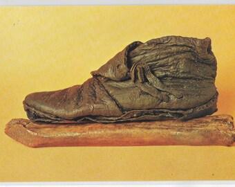 VIKING AGE BOOT and Bone Skate, York - Unused Vintage Postcard Published by Judges Ltd for York Archaeological Trust