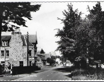 PROFEITS HOTEL, DINNET, Scotland - Used Valentine's Vintage Postcard Posted in 1963