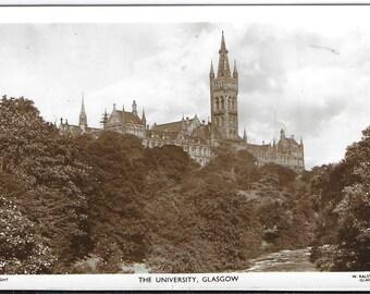 Glasgow University, Scotland - Used Vintage Postcard Posted on 4th January 1958