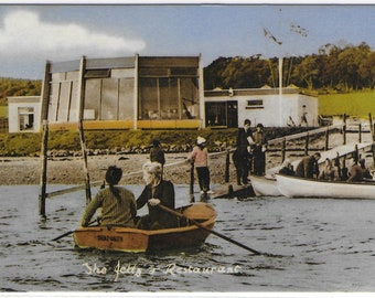 BLACK ISLE BOATING Centre and Anchor and Chain Restaurant, Coutmore Bay, Kessock by Inverness - Used Vintage Postcard
