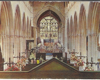ST PETER CHURCH, Norfolk - View from The Ringing Chamber, Walpole Street- Unused Vintage Postcard Photo by John Smith