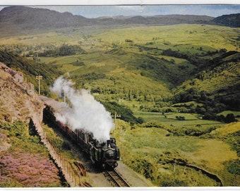 EARL of MERIONETH Steam Train Approaching Garnedd Tunnel on Festiniog Railway - Used Vintage Postcard Posted 22 June 1974