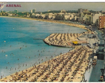 EL ARENAL, MALLORCA,Spain - Used Vintage Postcard posted on 3rd June 1976