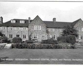 The Briars Residential Training Centre, CRICH, near Matlock, Derbyshire - Used Vintage Postcard Posted on 15th November 1971