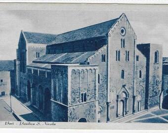 BARI, BASILICA SAN Nicola, Italy - Unused Italian Vintage Postcard