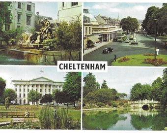 SCENES of CHELTENHAM, GLOUCESTERSHIRE - Used Vintage Postcard Posted on 8th October 1969