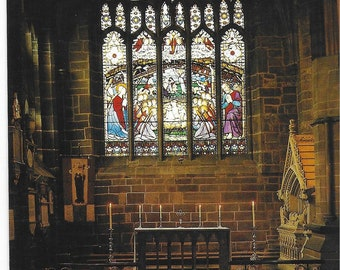 CHESTER CATHEDRAL - Chapel of St WERBURGH - Unused Vintage Postcard Published by Gordon Fraser Gallery