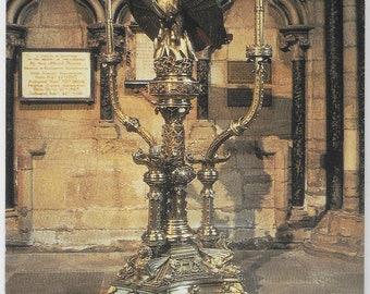 SCOTT LECTERN, DURHAM Cathedral, Durham, County Durham - Unused Vintage Postcard Published by Judges Limited