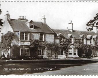CREEBRIDGE HOUSE HOTEL, Newton Stewart, Scotland - Used Valentine's Vintage Postcard