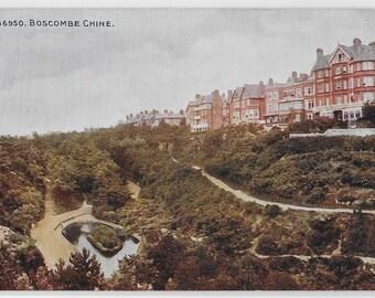 BOSCOMBE CHINE, Dorset - Vintage postcard Published by Photochrome Co. Ltd