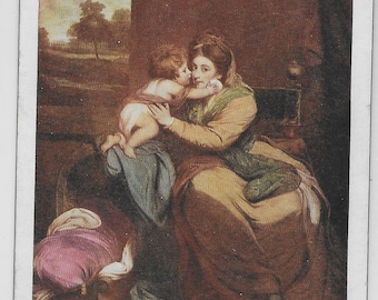 Painting by Joshua Reynolds - Lady Elizabeth and Sons - Tuck's Vintage Postcard