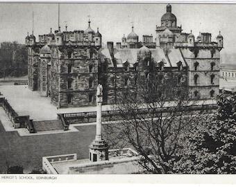 GEORGE HERIOT'S SCHOOL, Edinburgh, Scotland - Used Vintage Postcard Posted on 28th August 1969