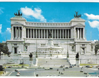 ROME - VENEZIA Square and the Altar of the Country, ITALY - Unused Italian Vintage Postcard
