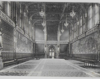 Royal Gallery, House of Lords, London - Vintage Postcards
