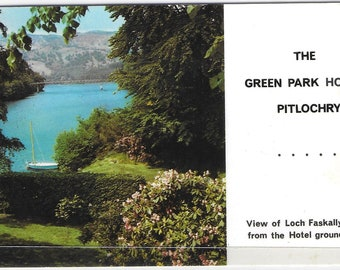 The GREEN PARK HOTEL, Pitlochry, Scotland - Used Vintage Postcard Posted 22 August 1971