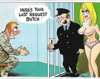 HERE'S YOUR LAST Request Butch - Unused Vintage Postcard Published by Bamforth & Co Ltd