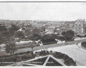 HARROGATE from PROSPECT HOTEL, Yorkshire - Unused Vintage Postcard Published by Photochrom Co Ltd