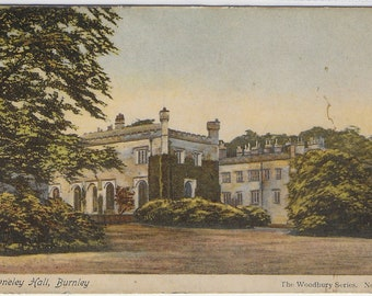 TOWNELEY HALL, BURNLEY, Lancashire - Used Vintage Postcard Posted in 1904