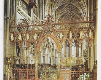 LICHFIELD CATHEDRAL The Screen, Staffordshire - Vintage Postcard Published by Pitkin Pictorial Postcards